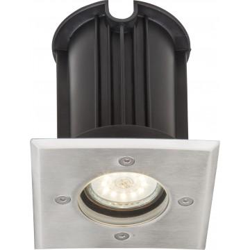 Встраиваемый в уличное покрытие светильник Globo Style II 31101, IP67, 1xGU10x40W, металл, стекло