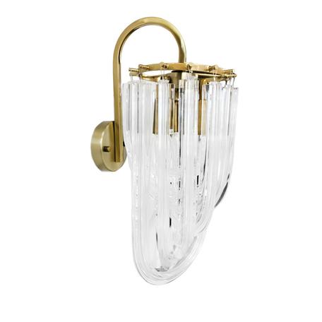 Настенный светильник Lumina Deco Weddini LDW 6001-3 GD+CL, 3xE14x40W, золото, прозрачный, металл, стекло
