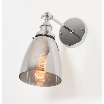 Настенный светильник Lumina Deco Fabi LDW 6800-1 CHR+GY, 1xE27x40W, хром, дымчатый, металл, стекло - миниатюра 4
