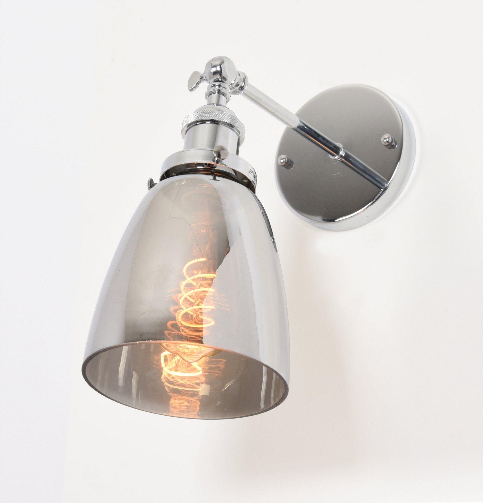 Настенный светильник Lumina Deco Fabi LDW 6800-1 CHR+GY, 1xE27x40W, хром, дымчатый, металл, стекло - фото 4