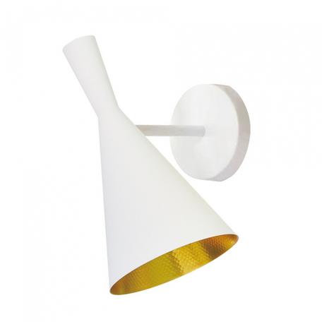 Настенный светильник Lumina Deco Foggi LDW 7712-A WT MAT+GD, 1xE27x40W, белый, металл