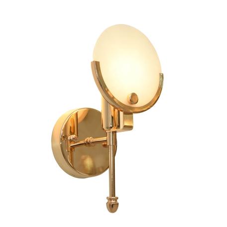 Настенный светильник Lumina Deco Montego LDW 8010-1W F.GD, 1xE14x40W, золото, белый, металл, стекло