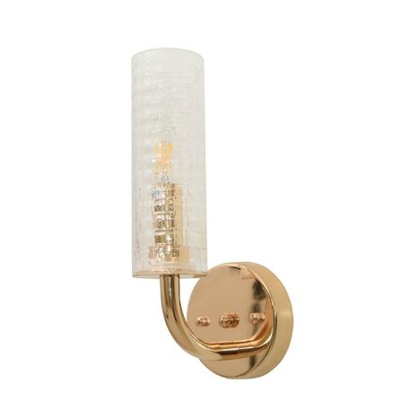 Настенный светильник Lumina Deco Donatti LDW 8011-1W F.GD, 1xE14x40W, золото, прозрачный, металл, стекло