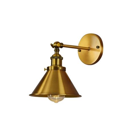 Настенный светильник Lumina Deco Gubi LDW B005-1 MD, 1xE27x40W, матовое золото, металл