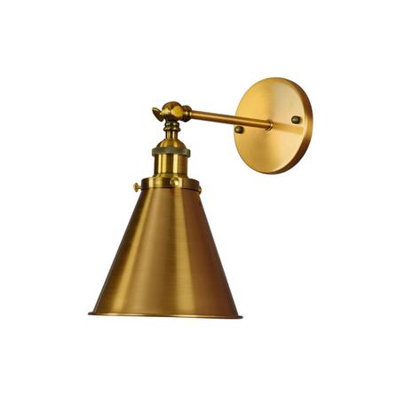 Настенный светильник Lumina Deco Rubi LDW B007-1 MD, 1xE27x40W, матовое золото, металл