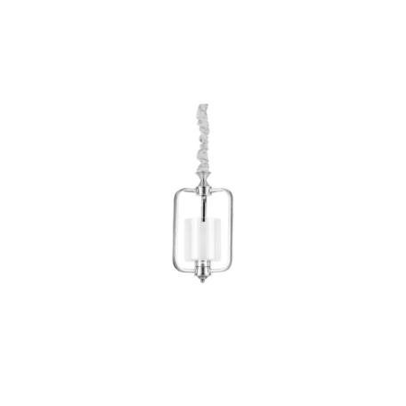 Подвесной светильник Lumina Deco Atlanta LDP 1222-1 CHR+WT, 1xE27x40W, хром, белый, прозрачный, металл, металл со стеклом