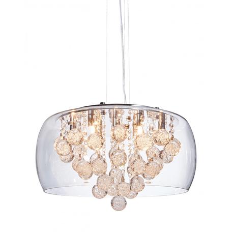 Подвесная люстра Lumina Deco Fabina LDP 8077-500 PR, 9xG9x20W, хром, прозрачный, металл, стекло, хрусталь