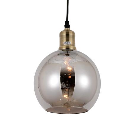 Подвесной светильник Lumina Deco Zagallo LDP 11336, 1xE27x40W, черный, бронза, дымчатый, металл, стекло