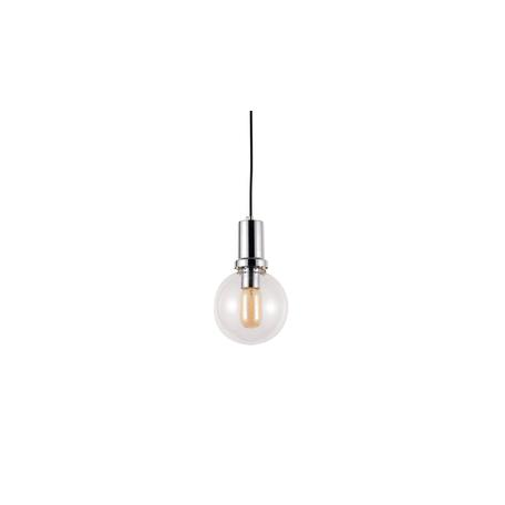Подвесной светильник Lumina Deco Dorito LDP 1212-150 GY+CHR, 1xE27x40W, хром, прозрачный, металл, стекло