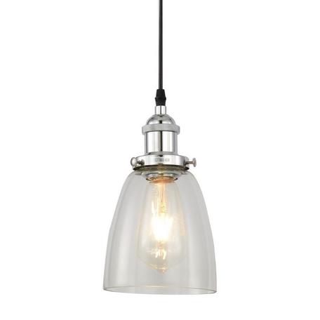 Подвесной светильник Lumina Deco Fabi LDP 6800 CHR+PR, 1xE27x40W, хром, прозрачный, металл, стекло