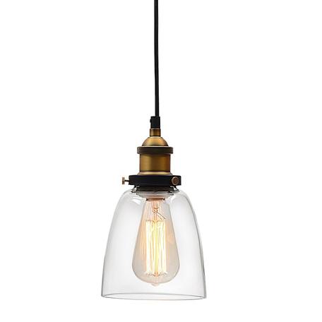 Подвесной светильник Lumina Deco Fabi LDP 6800 MD+PR, 1xE27x40W, черный, бронза, прозрачный, металл, стекло