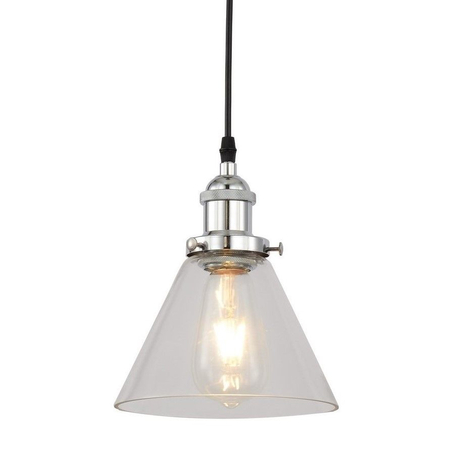 Подвесной светильник Lumina Deco Nubi LDP 6801 CHR+PR, 1xE27x40W, хром, прозрачный, металл, стекло