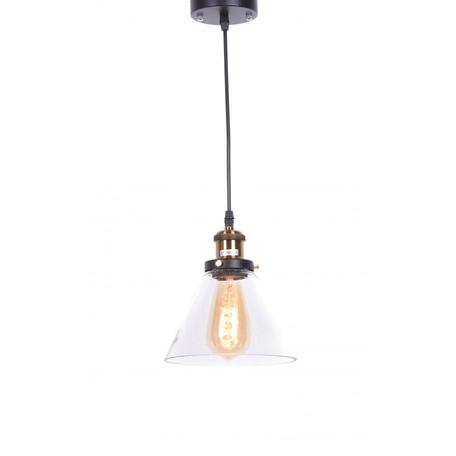 Подвесной светильник Lumina Deco Nubi LDP 6801 MD+PR, 1xE27x40W, черный, бронза, прозрачный, металл, стекло
