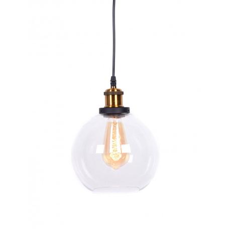 Подвесной светильник Lumina Deco Navarro LDP 6802 PR, 1xE27x40W, черный, бронза, прозрачный, металл, стекло