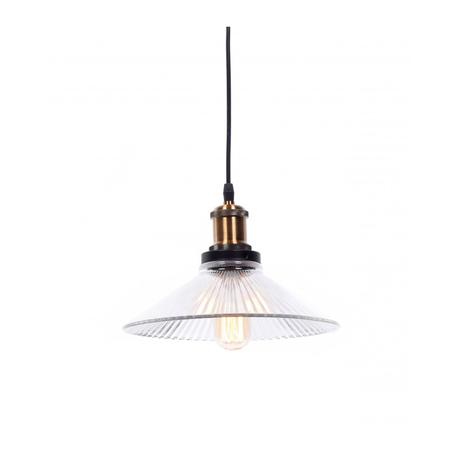 Подвесной светильник Lumina Deco Kobi LDP 6802 RIFLE, 1xE27x40W, черный, бронза, прозрачный, металл, стекло