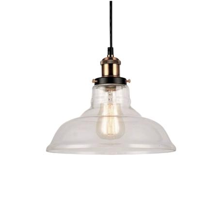 Подвесной светильник Lumina Deco Gabi LDP 6804 PR, 1xE27x40W, бронза, прозрачный, металл, стекло
