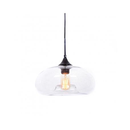 Подвесной светильник Lumina Deco Brosso LDP 6810 PR, 1xE27x40W, черный, прозрачный, металл, стекло
