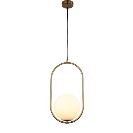 Подвесной светильник Lumina Deco Panari LDP 6831-200 WT+MD, 1xE27x40W, бронза, белый, металл, металл со стеклом