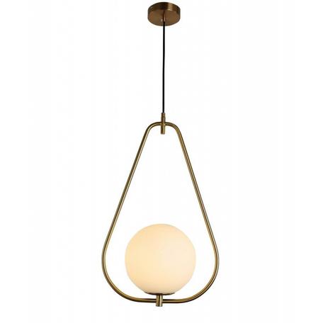 Подвесной светильник Lumina Deco Panari LDP 6832-200 WT+MD, 1xE27x40W, бронза, белый, металл, металл со стеклом