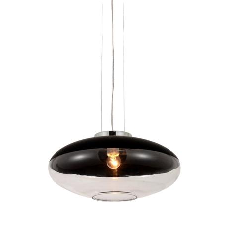 Подвесной светильник Lumina Deco Raveo LDP 6850 BK, 1xE27x40W, хром, черный, прозрачный, металл, металл со стеклом