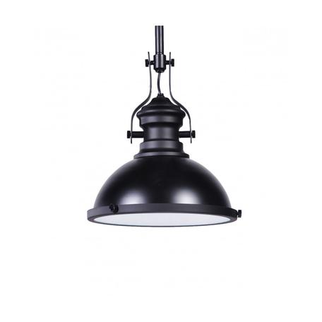 Подвесной светильник Lumina Deco Eligio LDP 6863-1 BK+WT, 1xE27x40W, черный, металл