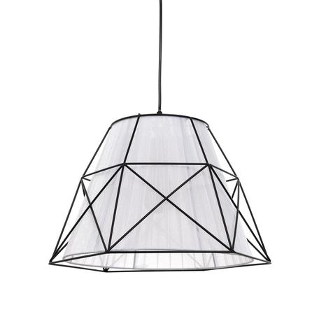 Подвесной светильник Lumina Deco Boneti LDP 8002 BK+WT, 1xE27x40W, черный, белый, черно-белый, металл, текстиль - миниатюра 1