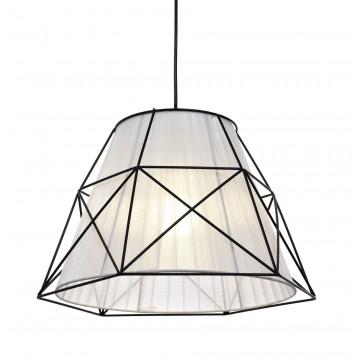 Подвесной светильник Lumina Deco Boneti LDP 8002 BK+WT, 1xE27x40W, черный, черный с белым, металл, текстиль - миниатюра 2