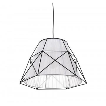 Подвесной светильник Lumina Deco Boneti LDP 8002 BK+WT, 1xE27x40W, черный, черный с белым, металл, текстиль - миниатюра 3