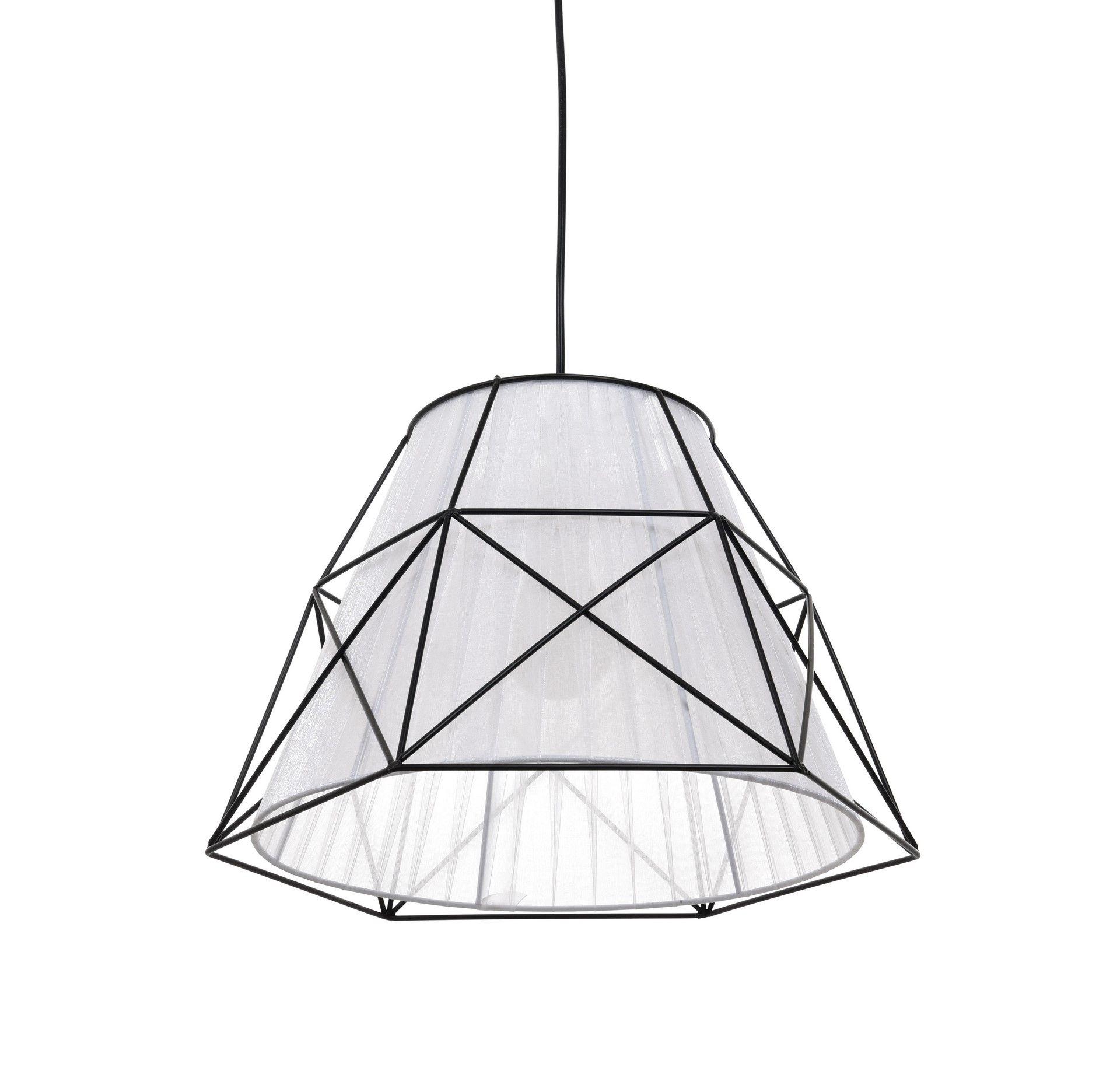 Подвесной светильник Lumina Deco Boneti LDP 8002 BK+WT, 1xE27x40W, черный, черный с белым, металл, текстиль - фото 3
