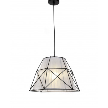 Подвесной светильник Lumina Deco Boneti LDP 8002 BK+WT, 1xE27x40W, черный, белый, черно-белый, металл, текстиль - миниатюра 4