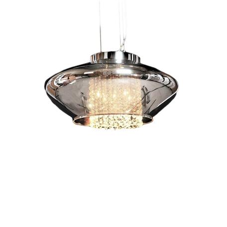 Подвесной светильник Lumina Deco Rivorre LDP 8056, 4xG4x20W, хром, дымчатый, прозрачный, металл, стекло, хрусталь - миниатюра 1