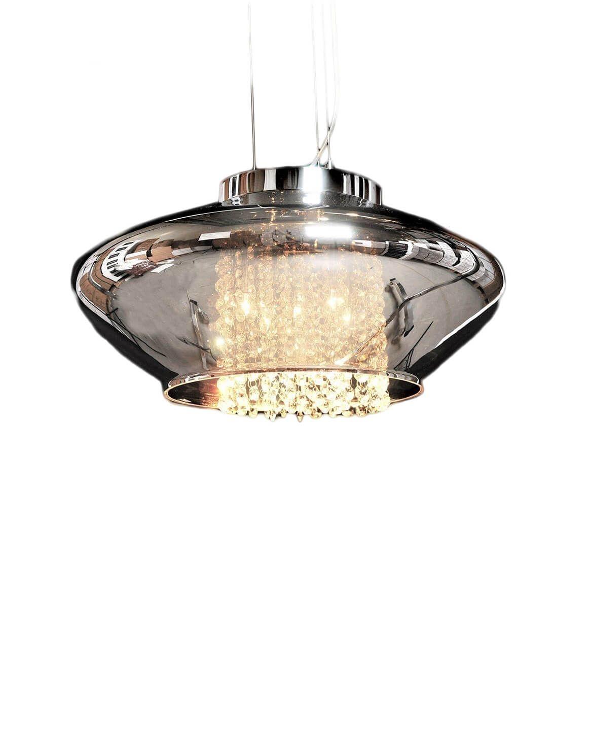 Подвесной светильник Lumina Deco Rivorre LDP 8056, 4xG4x20W, хром, дымчатый, прозрачный, металл, стекло, хрусталь - фото 1