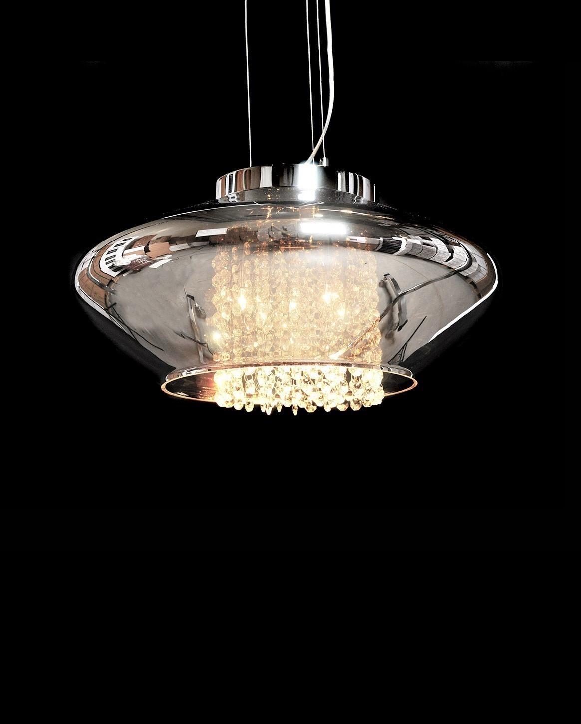 Подвесной светильник Lumina Deco Rivorre LDP 8056, 4xG4x20W, хром, дымчатый, прозрачный, металл, стекло, хрусталь - фото 2