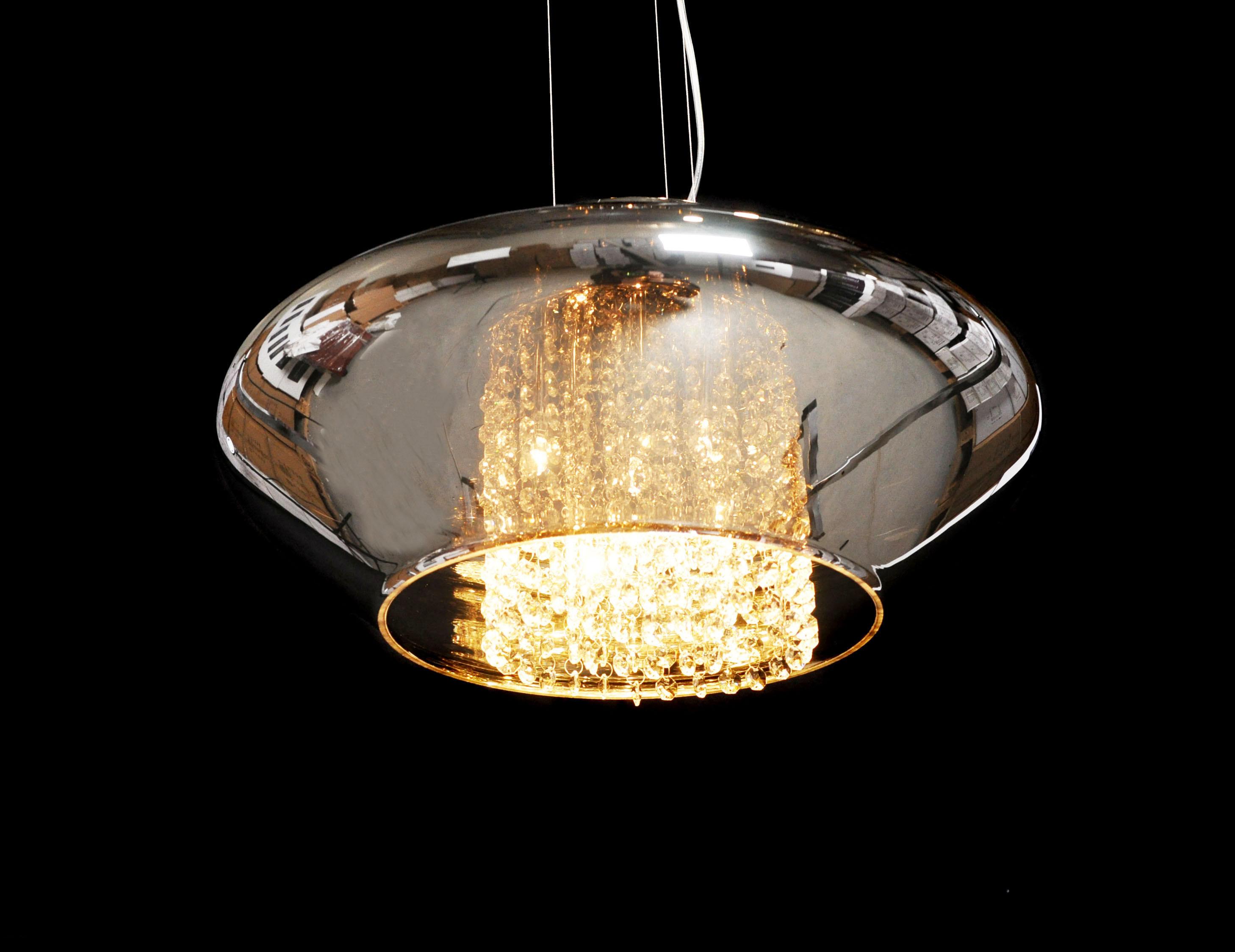 Подвесной светильник Lumina Deco Rivorre LDP 8056, 4xG4x20W, хром, дымчатый, прозрачный, металл, стекло, хрусталь - фото 4