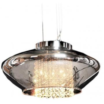 Подвесной светильник Lumina Deco Rivorre LDP 8056, 4xG4x20W, хром, дымчатый, прозрачный, металл, стекло, хрусталь - миниатюра 5