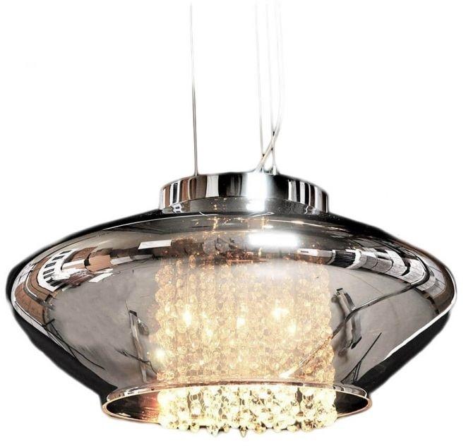 Подвесной светильник Lumina Deco Rivorre LDP 8056, 4xG4x20W, хром, дымчатый, прозрачный, металл, стекло, хрусталь - фото 5