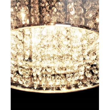 Подвесной светильник Lumina Deco Rivorre LDP 8056, 4xG4x20W, хром, дымчатый, прозрачный, металл, стекло, хрусталь - миниатюра 6