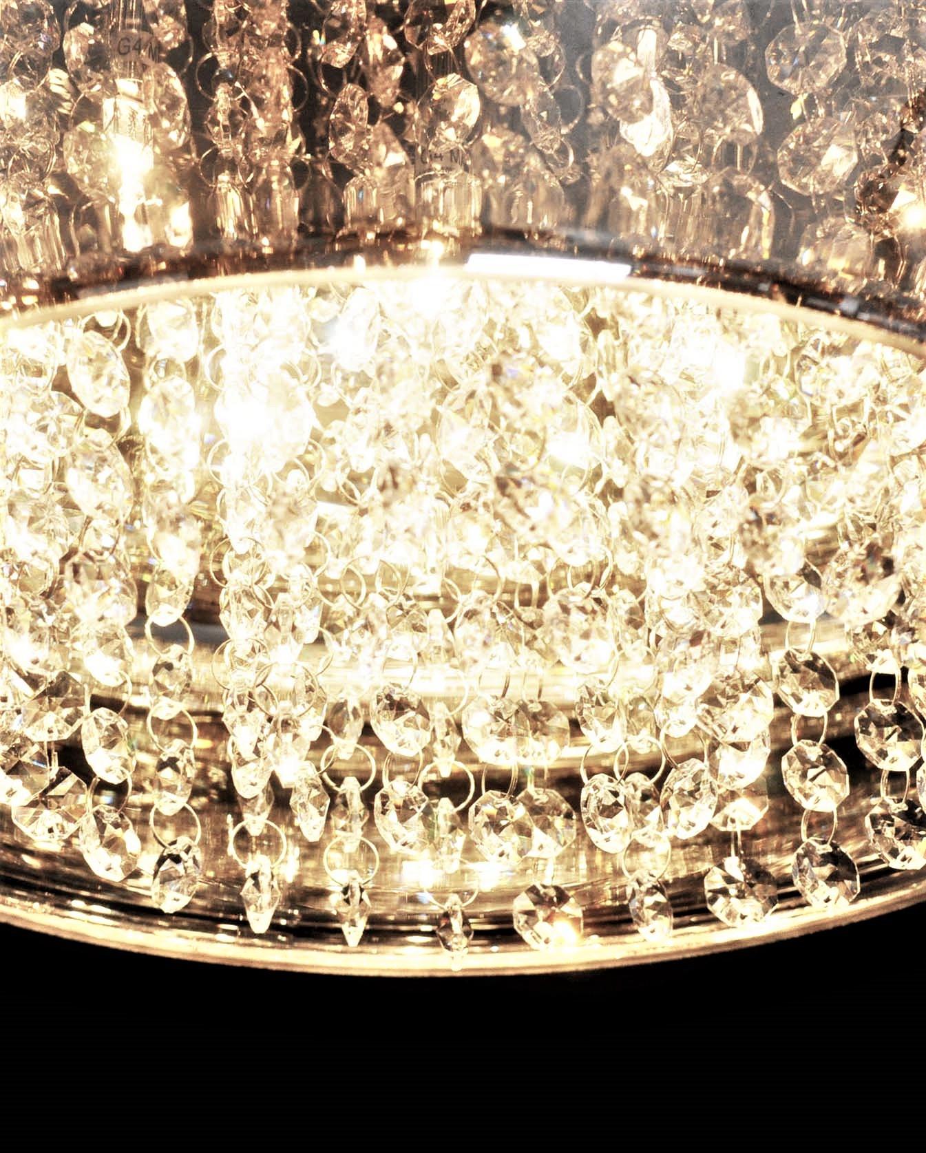Подвесной светильник Lumina Deco Rivorre LDP 8056, 4xG4x20W, хром, дымчатый, прозрачный, металл, стекло, хрусталь - фото 6