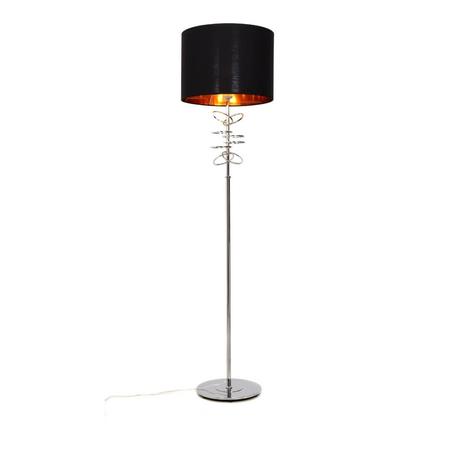 Торшер Lumina Deco Milari LDF 5530 CHR+BK, 1xE27x40W, хром, черный, металл, текстиль