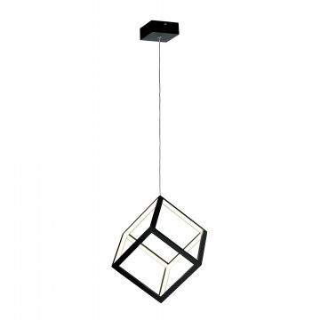 Подвесной светодиодный светильник Citilux Куб CL719201, LED 30W 4000K 1950lm, черный, металл, металл с пластиком
