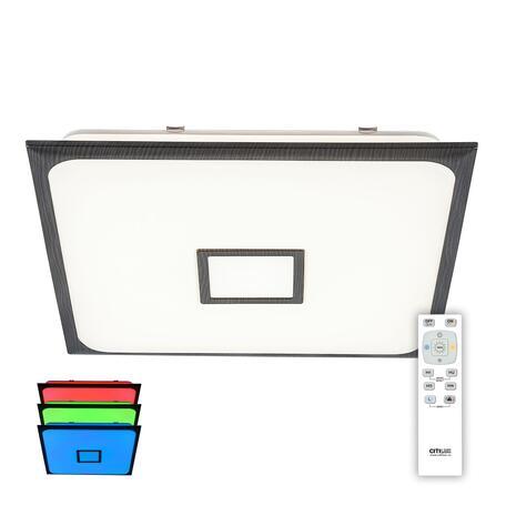 Потолочный светодиодный светильник с пультом ДУ Citilux Старлайт CL703K85RGB, LED 80W 3000-4500K + RGB 5200lm, белый, венге, металл, пластик