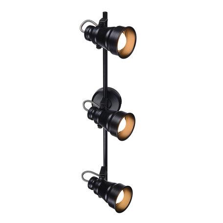 Потолочный светильник с регулировкой направления света Citilux Бейкер CL541531, 3xE14x60W, черный, металл