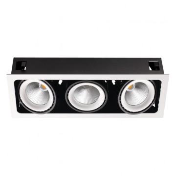 Встраиваемый светильник Novotech 358039, белый, черный, металл