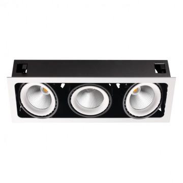 Встраиваемый светодиодный светильник Novotech Spot Gesso 358039, LED 96W 3000K 8832lm, белый, белый с черным, металл