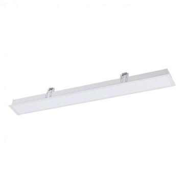 Встраиваемая светодиодная панель Novotech Iter 358043, LED 32W 4000K 2240lm, белый, металл со стеклом/пластиком, пластик