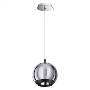 Встраиваемый подвесной светодиодный светильник Novotech Spot Glob 358042, LED 20W 3000K 1840lm, хром, металл