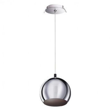 Встраиваемый подвесной светильник Novotech 370584, хром, металл