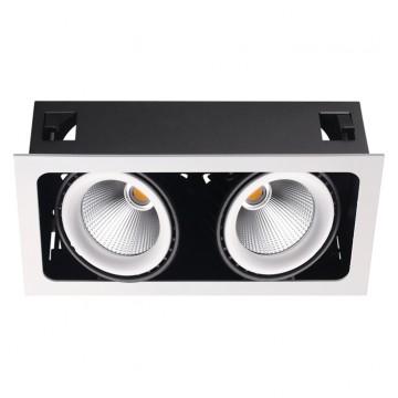 Встраиваемый светильник Novotech 358038, белый, черный, металл