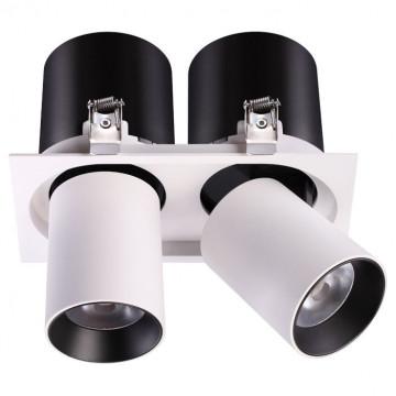 Встраиваемый светодиодный светильник с регулировкой направления света Novotech Spot Lanza 358083, LED 24W 3000K 1950lm, белый, черно-белый, металл