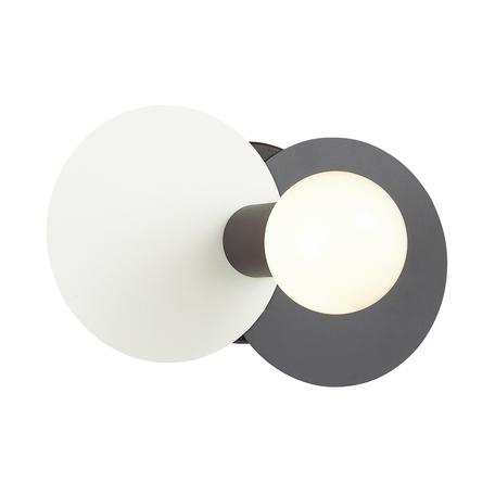 Настенный светильник Lumion Aloy 3783/1W, белый, серый, черный, металл